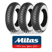 Mitas B13 350 x 8 Whitewall Set of 3 for Vespa Sportique, Super, VBB, Douglas