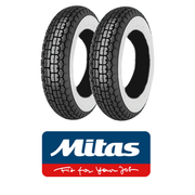 Mitas B13 Whitewall 350 x 8 Set of 2 for Vespa Sportique, Super, VBB, Douglas