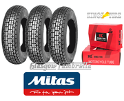 Mitas B13 350 x 8 Set of 3 + INNER TUBES for Vespa Sportique, Super, VBB, Douglas