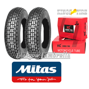 Mitas B13 350 x 8 Set of 2 + INNER TUBES for Vespa Sportique, Super, VBB, Douglas