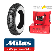 MITAS B13 400 x 8 Whitewall Single  + INNER TUBE for Lambretta LD, D, LC etc