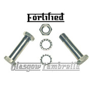 FORTIFIED Lambretta Series 2, 3 & GP  TOP GRADE STAINLESS STEEL FORK LINK BOLTS, NUTS, WASHERS Li, TV, SX, Special
