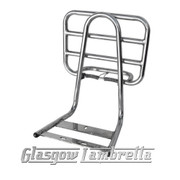 Lambretta Series 2, 3 & GP POLISHED STAINLESS STEEL BACKREST & FOLD DOWN REAR RACK Li, TV, SX, Special