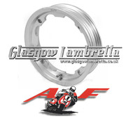 AF RAYSPEED Lambretta Set of 2 x TUBELESS WHEEL RIMS in POLISHED ALUMINIUM