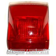 Vespa PX & LML 2T REAR LIGHT / TAIL LAMP UNIT with CHROME SURROUND & BULBS