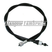 Lambretta SPEEDO / SPEEDOMETER CABLE to fit Indian type thread GP/DL/Li/SX/TV