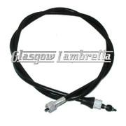 Lambretta SPEEDO / SPEEDOMETER CABLE to fit Indian type thread GP/DL/Li/SX/TV