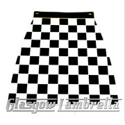 Lambretta BLACK & WHITE CHEQUERED MOULDED MUDFLAP Li/TV/SX/GP etc