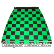Lambretta BLACK & GREEN CHEQUERED MOULDED MUDFLAP Li/TV/SX/GP etc