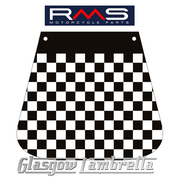 RMS Scomadi / Royal Alloy Italian BLACK & WHITE CHEQUERED MUDFLAP
