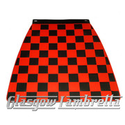 Scomadi / Royalloy BLACK &  RED CHEQUERED MOULDED MUDFLAP