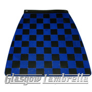Scomadi / Royalloy BLACK & NAVY BLUE CHEQUERED MOULDED MUDFLAP