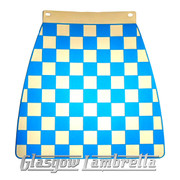 Scomadi / Royalloy SKY BLUE & WHITE CHEQUERED MOULDED MUDFLAP