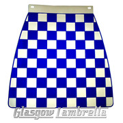 Scomadi / Royalloy NAVY BLUE & WHITE CHEQUERED MOULDED MUDFLAP