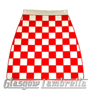 Scomadi / Royalloy RED & WHITE CHEQUERED MOULDED MUDFLAP
