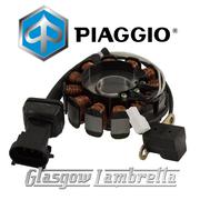 Genuine Piaggio Italian Vespa GTV 125 Scooter STATOR PLATE