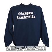 GLASGOW LAMBRETTA LIGHT NAVY BLUE SWEATSHIRT