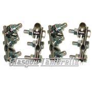 Set of 4 x UNIVERSAL CHROME W CLAMPS for Mirror Stems etc