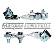Set of 2 x UNIVERSAL CHROME TWISTED W CLAMPS for Mirror Stems etc