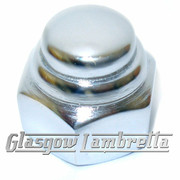 Lambretta Series 1, 2, 3 & GP CHROME REAR HUB NUT Li, TV, SX, Special