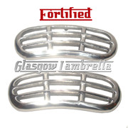 Lambretta LD Scooter SIDE PANEL GRILL SET in POLISHED ALLOY by FORTIFIED