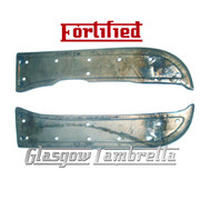 FORTIFIED Lambretta LD REAR RUNNER / FOOT BOARDS SET (Bare metal Innocenti spec)