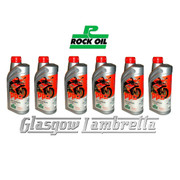 HALF CASE 6 x 1 Litre ROCK OIL PP2 SEMI-SYNTHETIC 2T ENGINE OIL + Free OIL MEASURE JUG