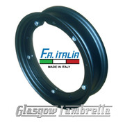 "Single FA ITALIA PX and all 10"" wheeled Vespa Italian BLACK SPLIT WHEEL RIM"