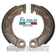 FA ITALIA Lambretta Li/TV/SX Set of FRONT BRAKE SHOES