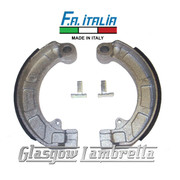 FA ITALIA Vespa Rally / Super / Sprint etc Set of REAR BRAKE SHOES