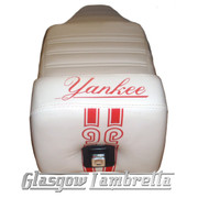 Vespa T5  Repro/Copy GIULIARI YANKEE SEAT in WHITE & RED