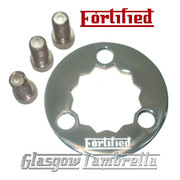 FORTIFIED Lambretta STAINLESS STEEL 3 HOLE REAR HUB LOCKING RING + CAP SCREWS