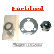 FORTIFIED Lambretta STAINLESS STEEL 3 HOLE REAR HUB LOCKING RING & NUT KIT