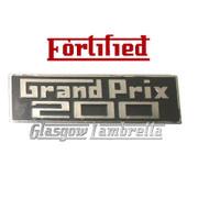 Lambretta GP / GRAND PRIX 200 LEGSHIELD BADGE by FORTIFIED (Diecast Metal. Orig Italian spec)