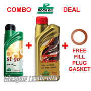 Lambretta Oil Deal 500ml ROCK OIL ST90 GEARBOX + 1L F/S 2 RACING ENGINE + GASKET