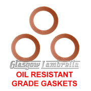 Lambretta Series 1, 2 & 3 + GP  OIL PLUG /  BREATHER / DRAIN GASKETS / SEAL SET ItalianT Li/TV/SX/Special