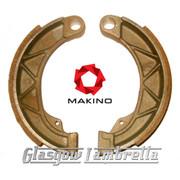 Lambretta Series 1, 2 & 3 Scooter FRONT BRAKE SHOES by MAKINO Race Compound Li/TV/SX/Special