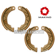 Lambretta Series 1, 2 & 3 FRONT & REAR BRAKE SHOES SET by MAKINO Race Compound Li/TV/SX/Special