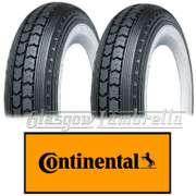 Set 2 x CONTINENTAL LB 400 x 8 WHITEWALL SCOOTER TYRES for Lambretta LD, D, LC