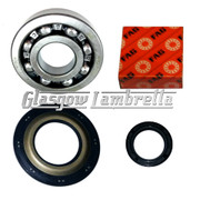 Vespa T5 NADELLA / FAG HIGH LOAD CRANKSHAFT BEARINGS + SEALS Main + Flywheel