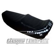 Vespa Classic  Repro/Copy GIULIARI YANKEE POLE POSITION SEAT in BLACK & WHITE