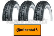 Set 3 x CONTINENTAL LB 400 x 8 WHITEWALL SCOOTER TYRES for Lambretta LD, D, LC