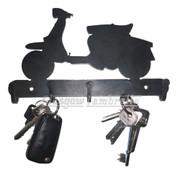 LAMBRETTA SCOOTER CUT OUT 3mm STEEL WALL MOUNT KEY HOLDER / HOOK Mancave, Garage