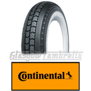Single CONTINENTAL LB 400 x 8 WHITEWALL SCOOTER TYRE for Lambretta LD, D, LC etc