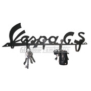 VESPA GS SCOOTER LOGO CUT OUT 3mm STEEL WALL MOUNT KEY HOLDER / HOOK Mancave, Garage