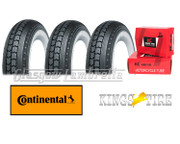 Set 3 x CONTINENTAL LB 400 x 8 WHITEWALL TYRES + INNER TUBES for Lambretta LD, D, LC