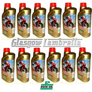 Full Case 12 x 1L ROCK OIL SYNTHESIS 2 INJECTOR F/S 2T ENGINE OIL + FREE OIL JUG
