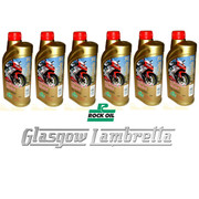 Half Case 6 x 1L ROCK OIL SYNTHESIS 2 INJECTOR F/S 2T ENGINE OIL + FREE OIL JUG