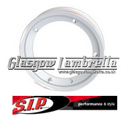S.I.P. Vespa / LML Set of 2 x TUBELESS WHEEL RIMS in POLISHED ALUMINIUM