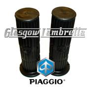PIAGGIO Vespa PX, T5 & LML BLACK RUBBER HANDLEBAR GRIPS